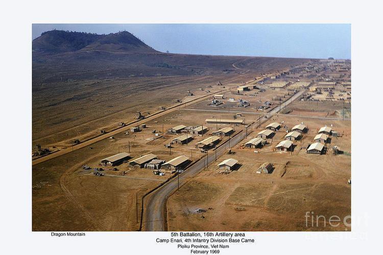 Camp Enari Aerial Of Camp Enari 4th Id Base Camp Dragon Mountain Vietnam 1969