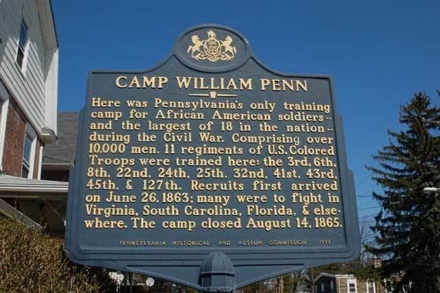 Camp William Penn United States Colored Troops USCT Camp William Penn Headquarters
