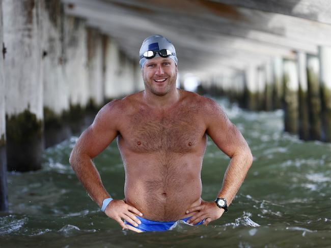 Campbell Brown (footballer) Campbell Brown training to swim across English Channel in