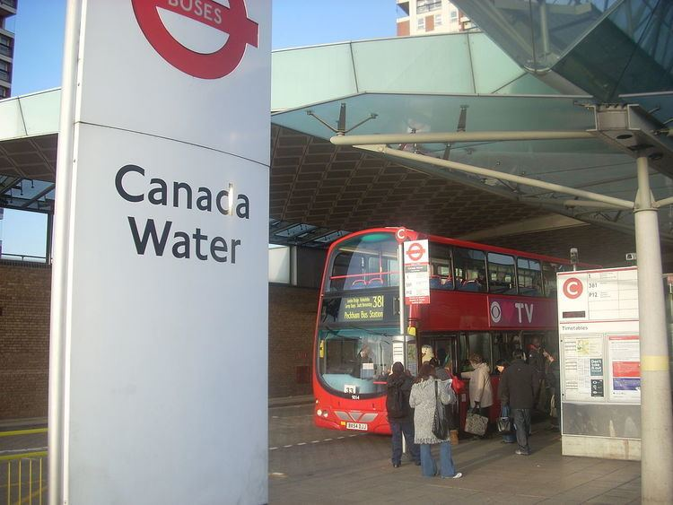 Canada Water bus station