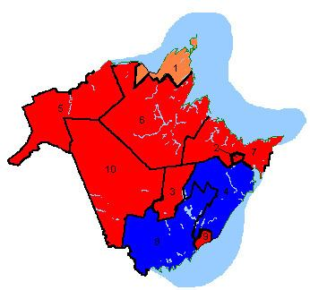 Canadian federal election results in New Brunswick
