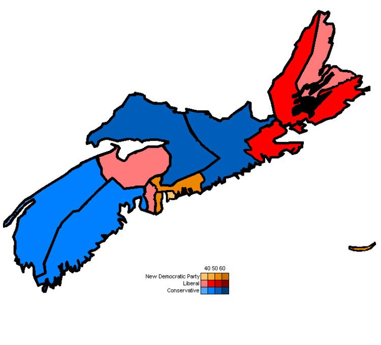 Canadian federal election results in Nova Scotia