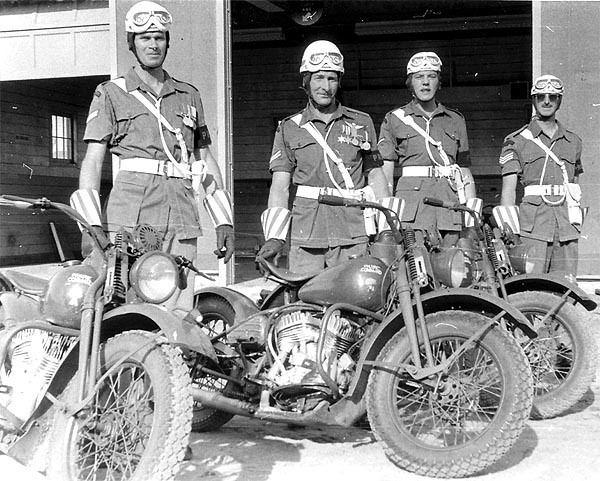 Canadian Provost Corps C Pro C Motorcycles Provost MC Training Shilo 1956