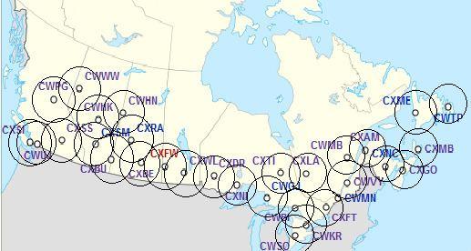 Canadian weather radar network