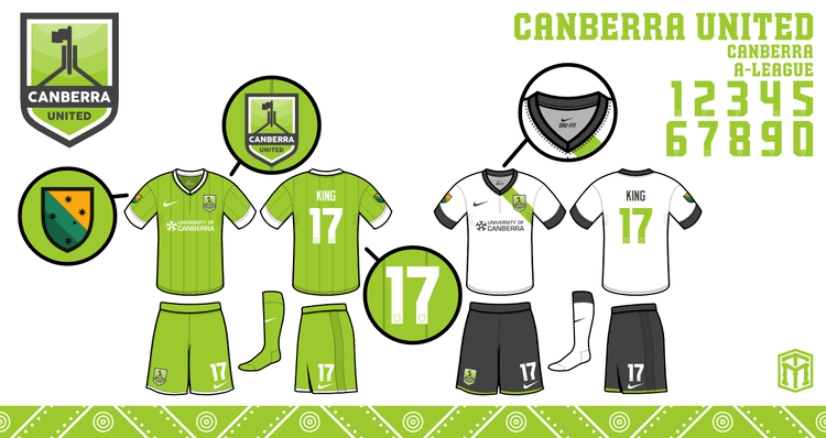 Canberra United FC ALeague Club Crest ReDesigns