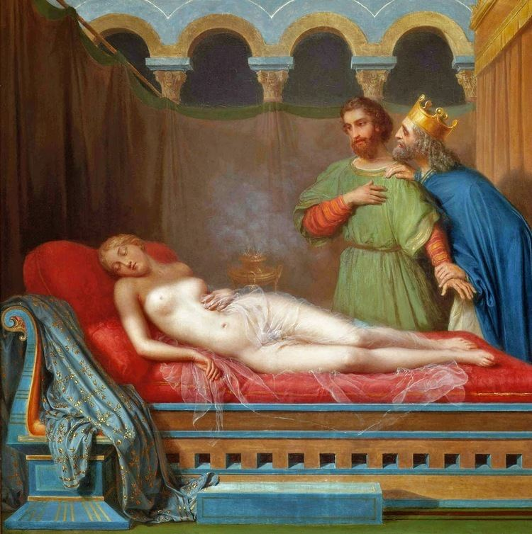 Candaules Peinture Franaise du 19me Sicle The Wife of King Candaules 1846