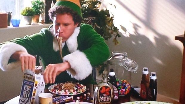 Candy Candy movie scenes According to Buddy the Elf elves try to stick to four main food groups Candy candy canes candy corn and syrup Hence his love for maple syrup doused