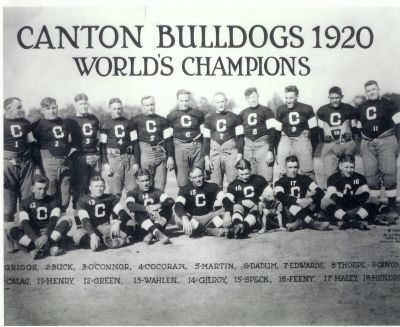Canton Bulldogs Football Professional Canton and Stark County 1920 Canton