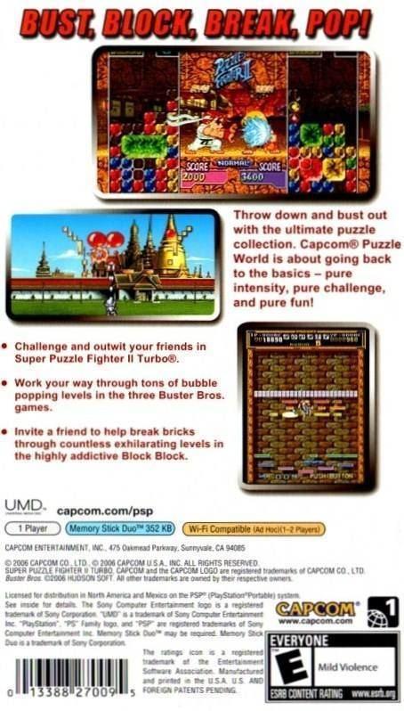 Capcom Puzzle World Capcom Puzzle World Box Shot for PSP GameFAQs