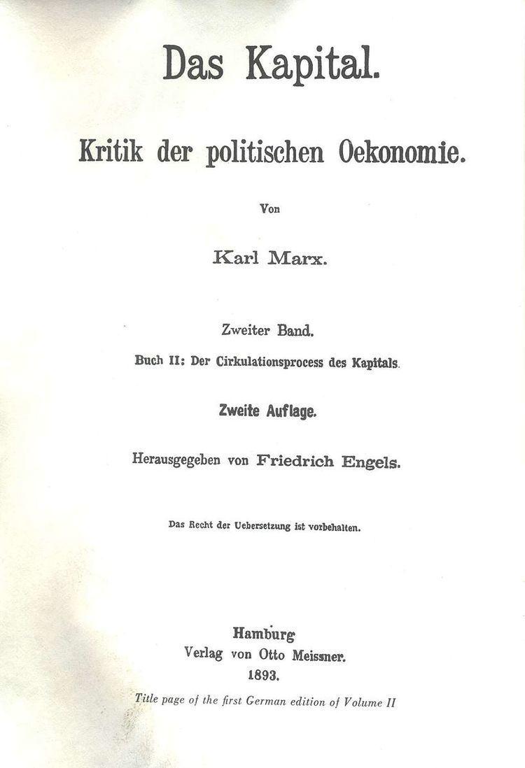 Capital, Volume II
