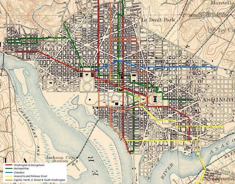 Capitol, North O Street and South Washington Railway