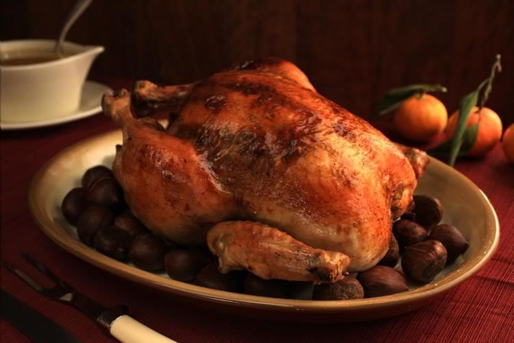 Capon Roasted Capon with CitrusSherry Jus Recipe Chowhound