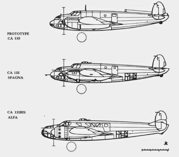 Caproni Ca.135 Italian Aircraft of WWII Caproni Bergamaschi Ca 135