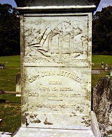 Capt. John Jeffries Burial Marker httpsuploadwikimediaorgwikipediacommonsthu