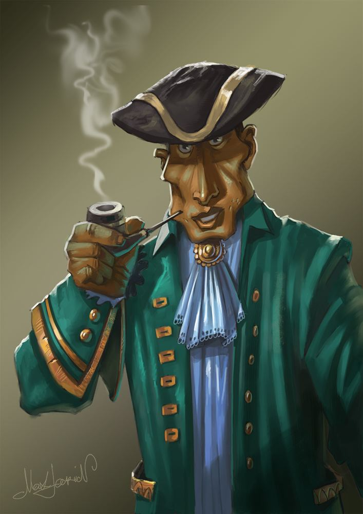 Captain Alexander Smollett Captain Alexander Smollett by Max Larin Cartoon 2D CGSociety