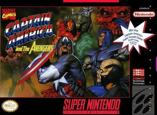 Captain America and The Avengers Captain America and The Avengers Review SNES Somewhere In The