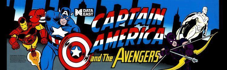 Captain America and The Avengers Captain America and The Avengers Arcade Marquee 26 x 8