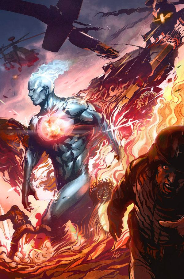 Captain Atom Captain Atom Issue 3 by Artgerm on DeviantArt