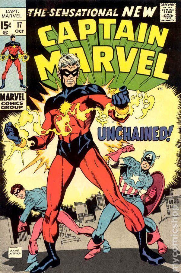 Captain Marvel (Marvel Comics) Captain Marvel 1968 1st Series Marvel comic books