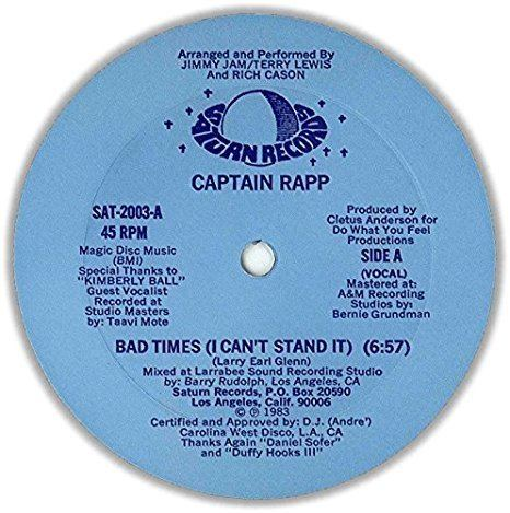 Captain Rapp Captain Rapp Bad Times I Cant Stand It Amazoncom Music