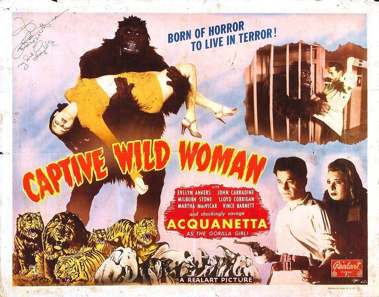Captive Wild Woman Poster for Captive Wild Woman 1943 USA Wrong Side of the Art