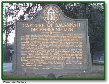 Capture of Savannah Capture of Savannah Georgia Historical Society