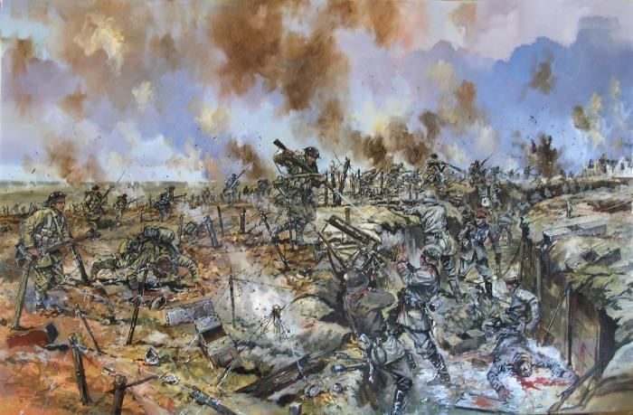 Capture of Schwaben Redoubt Dying Splendor of the Old World October 14 1916 The Somme