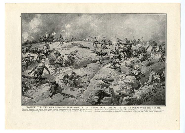 Capture of Schwaben Redoubt 1916 WW1 Print SCHWABEN REDOUBT BATTLE German Surrender SchwabenFeste