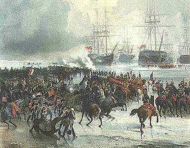 Capture of the Dutch fleet at Den Helder httpsuploadwikimediaorgwikipediacommonsthu