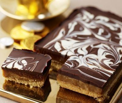 Caramel shortbread Millionaire39s Shortbread Recipe Carnation