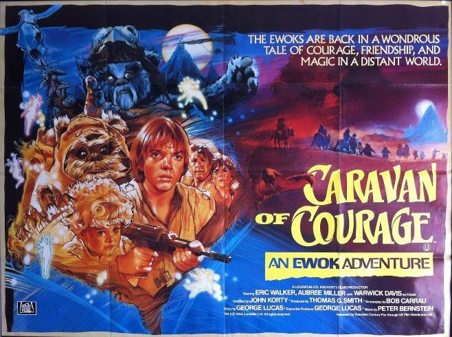 Caravan of Courage: An Ewok Adventure movie scenes Caravan of Courage was a 1984 TV movie the first of two to focus almost entirely on Ewok tribes and their adventures on the moon of Endor