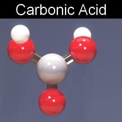 Carbonic acid 3d model molecule carbonic acid