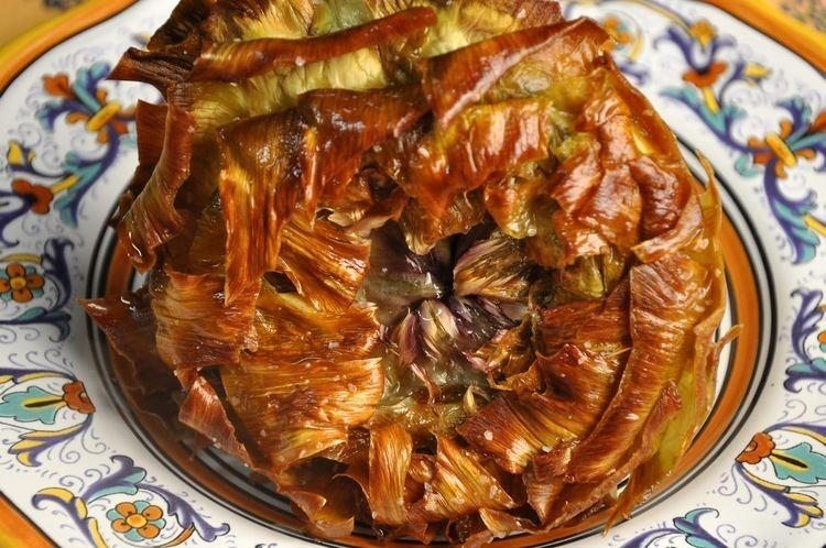 Carciofi alla giudia Epicuruscom Recipes Artichokes Jewish Style Carciofi alla Giudia