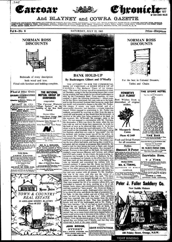 Carcoar Chronicle