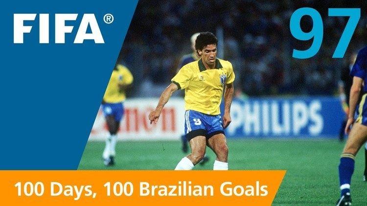 Careca 100 Great Brazilian Goals 97 Careca Italy 1990 YouTube