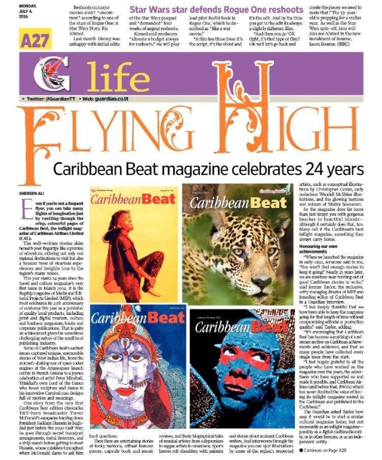 Caribbean Beat Caribbean Beat turns 24 MEP Publishers Trinidad amp Tobago