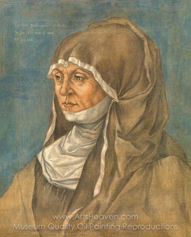 Caritas Pirckheimer Albrecht Durer Portrait of a Woman Said to Be Caritas Pirckheimer