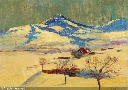 Carl August Liner Bauer mit Holzerschlitten sold by Auktionshaus Hans Widmer Sankt