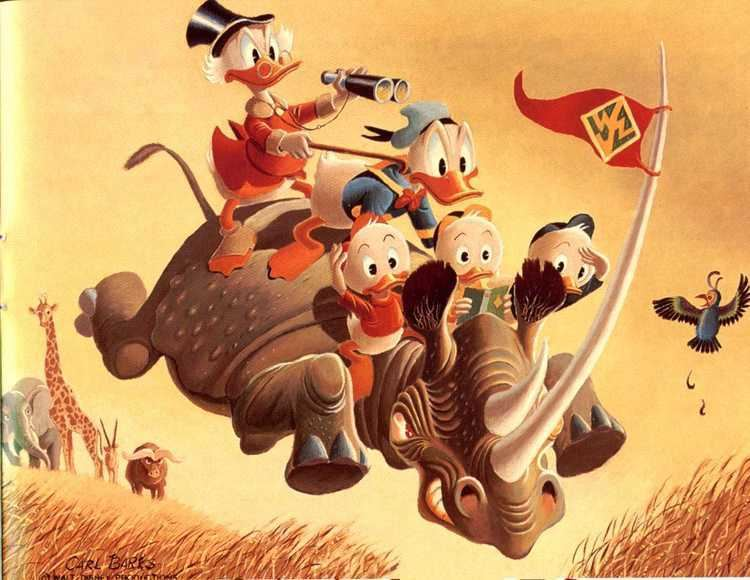 Carl Barks Barks Oil Paintings Carl Barks Photo 10623618 Fanpop