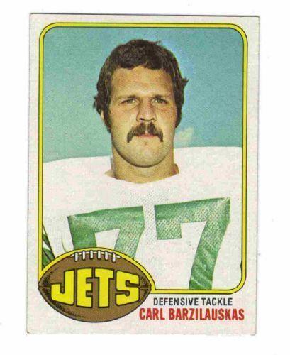 Carl Barzilauskas NEW YORK JETS Carl Barzilauskas 423 Topps 1976 NFL American