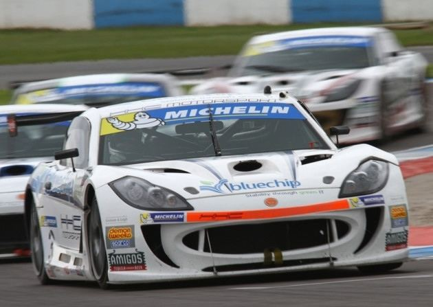 Carl Breeze Carl Breeze storms to first win of GT4 season at Donington