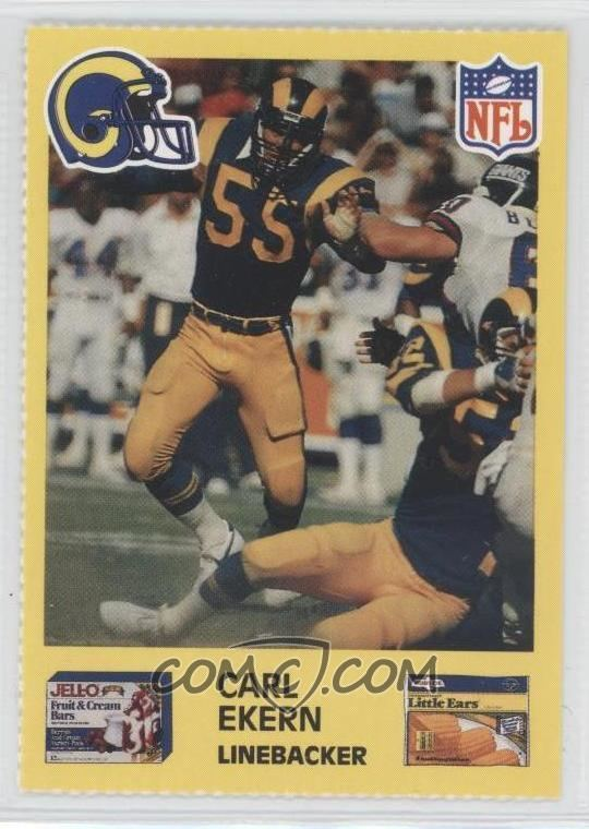 Carl Ekern 1987 JellO Los Angeles Rams Base 55 Carl Ekern COMC Card