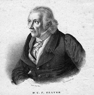 Carl Friedrich Zelter Lehrer und Vorbilder