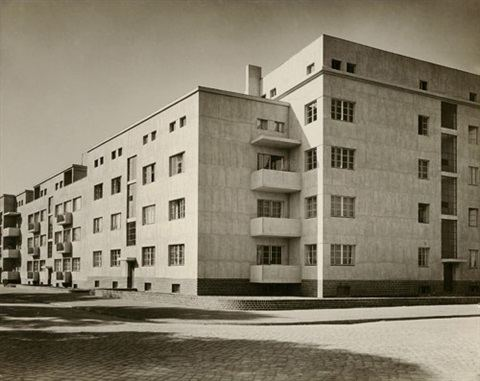 Carl Krayl Architectural views of a building complex by Carl Krayl in