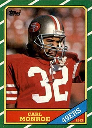 Carl Monroe Amazoncom 1986 Topps Football Card 159 Carl Monroe Mint