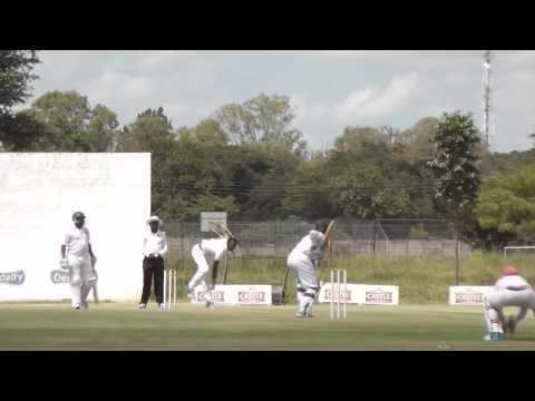 Carl Mumba Carl Mumba sends Donald Tiripano39s Off Stump Cartwheeling YouTube