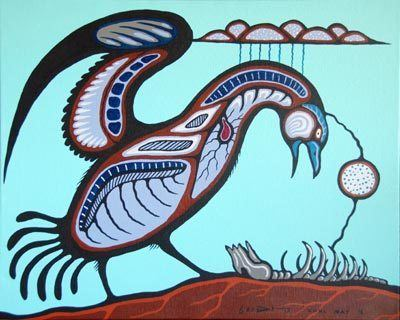 Carl Ray Life Cycle by Carl Ray Native Art Gallery Red Kettle
