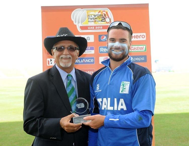 Carl Sandri USA Cricket Sandri39s allround show propels Italy past