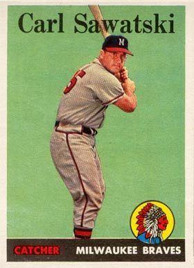 Carl Sawatski 1958 Topps Carl Sawatski 234 Baseball Card Value Price Guide