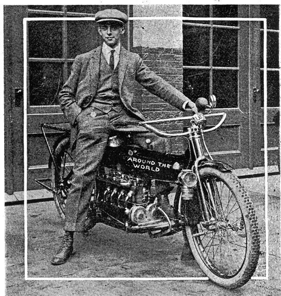 Carl Stearns Clancy Girdling the Globe The First 39Round the World Motorcycle